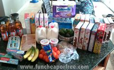 The Fun Cheap or Free Queen: How I got all these groceries for $ 79...when the cereal alone should've cost me $ 70! (No coupons necessary)
