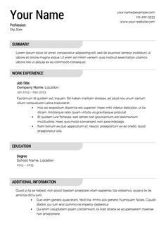 professional resume template free and get ideas for resume with this lovely idea 13 - Example Of A Professional Resume For A Job