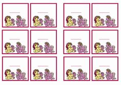 My Little Pony Birthday Printable Name Tags Click image below to enlarge and print