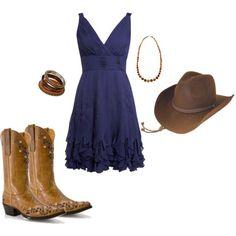 Western fabulous-fashion.  Bridesmaid dress idea :)