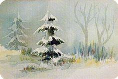 Es weihnachtet © eine Miniatur in Aquarell | Es weihnachtet (c) Miniatur in Aquarell von Frank Koebsch #Weihnachtsaquarell #Aquarell #Winteraquarell