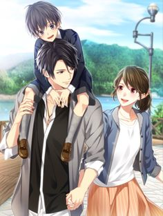 It'S like a family cute anime couples, anime love couple, couple cartoon, manga Couple Amour Anime, Couple Anime Manga, Anime Cupples, Romantic Anime Couples, Anime Child, Anime Couples Drawings, Anime Love Couple, Anime Couples Manga, Anime Kawaii