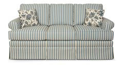 Navodari Sofa -- The perfect living room decor for a coastal home! I'm obsessed with the pinstripes