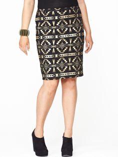 So Fabulous Aztec Midi Skirt - very.com