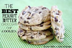 Butter, with a side of Bread // Easy family recipes and reviews.: THE BEST PEANUT BUTTER CHOCOLATE CHIP COOKIES