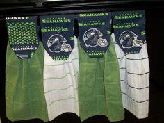 Hanging Kitchen Towels  NFL  Seattle Seahawks by CedarPlus on Etsy