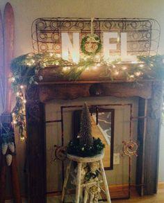2015 Christmas mantel