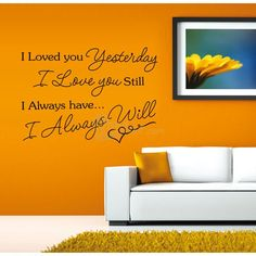 I Love You Quote Removable Decal PVC Wall Sticker Home Decor Art Hot, unit price of $5.38 only - Yesfor.com