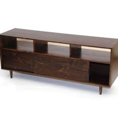 Mid Century Media Console - Latte Pine by Nikolay Hadzhiev