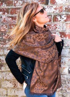 Bronze-animal-print-pashmina-shawl