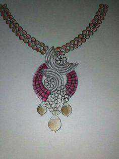 Pendant Design, Pendant Set, Jewelry Design Drawing, Terracotta Jewellery, Fashion Jewellery Online, Jewelry Illustration, Jewellery Sketches, Jewelry Patterns, Necklace Designs