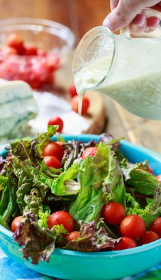 Blue Cheese Vinaigrette has plenty of blue cheese flavor without all the heaviness of a creamy dressing. So good on a green salad! Blue Cheese Vinaigrette, Blue Cheese Dressing, Vinaigrette Dressing, Other Recipes, New Recipes, Cooking Recipes, Favorite Recipes, Healthy Recipes, Recipes
