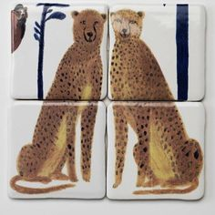 Completely compelling and strangely covetable: Hand-painted tiles from London ceramicist and illustrator Laura Carlin, depicting wild beasts (the truly obs