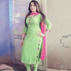 Best 12 Indian Dresses—Representing The Colorful And Vibrant Indian Culture in A Great Way Punjabi Suit Neck Designs, Patiala Suit Designs, Neck Designs For Suits, Salwar Designs, Dress Neck Designs, Kurti Designs Party Wear, Ladies Suits Indian, Suits For Women, Clothes For Women