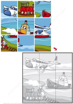 Jigsaw Puzzle with Transport Puzzle games Preschool Puzzles, Kindergarten Reading Activities, Jigsaw Puzzles For Kids, Puzzle Games For Kids, Toddler Learning Activities, Preschool Worksheets, Craft Activities For Kids, Preschool Activities, Learning English For Kids