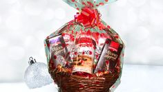 The perfect gift is a sweet holiday gift basket filled with a variety of Pepperidge Farm® holiday cookies.