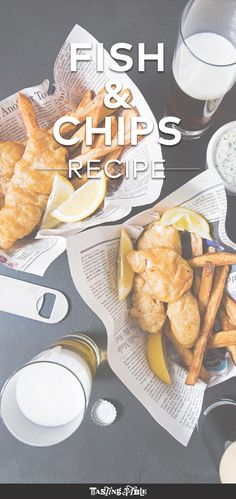 Fresh cod is beer-battered and then fried and served with chips for the ultimate British comfort food.