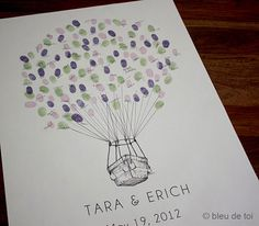Hot Air Balloon Thumbprint Guestbook