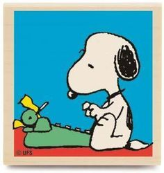 A Note From Snoopy (Peanuts) - Rubber Stamps