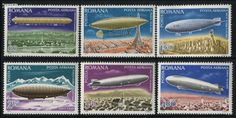 Zeppelins 6v, Country: Romania, Year: 1978, Product code: sro3499, Nr. Michel: 3499/04