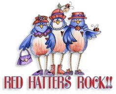 Red Hat Ladies Purple Coat, Red Purple, Red Hat Club, Jenny Joseph, Dolly Doll, Red Hat Ladies, Red Hat Society, Little Red Hen, Pink Hat