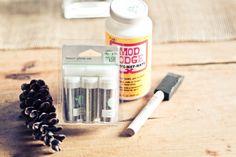 Mod Podge brilliant ideas: Pincon ornerment gifts, Birds for nursery, etc
