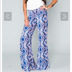 Mumu Roberts Party Pants in Purple Haze Brand new with tags. Show Me Your MuMu Pants Wide Leg