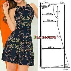 Frock Fashion, Fashion Sewing, Diy Fashion, Fashion Dresses, Sewing Clothes Women, Diy Clothes, Clothes For Women, Skirt Patterns Sewing, Clothing Patterns