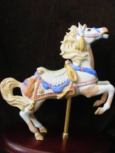 "Lenox Carousel Horse ""Western Pinto"" 1991 Retire | eBay"