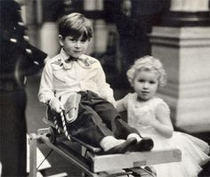 .From the Wallace Heaton Archives a picture of Prince Charles and Princess Anne at Prince Charles's second 5th birthday party at Buckingham Palace 1953