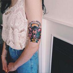 My beautiful cow tattoo with elderflowers vegetarian for Vegan tattoo 269