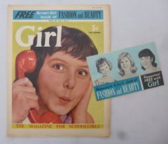 Smart Girls, Free Girl, Comics Girls, Book Girl, Dandy, Booklet, British, Beauty, Fashion