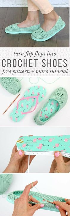 Yay summer! These lightweight crochet slippers with flip flop soles are super comfy and fun! Free crochet pattern and video tutorial!