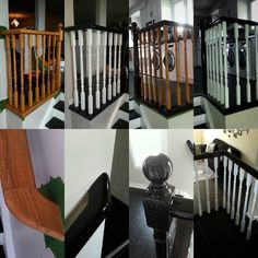 Stair rails and spindles... easy and effective way to update the look of your home.  This is quite an easy DIY project you can do over the weekend. #spindles #railings #stairs #renovations #renos #diy #stain #stripping #pro #dkhandymanservices by dkhandymanservices