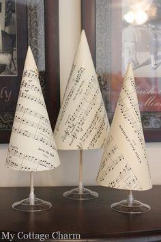 sheet music christmas trees