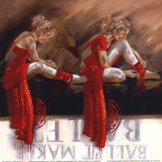 Velvet Shoes Poster Print People Art Music Dance Decorative Modern Women Ballet Contemporary Realism