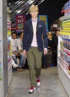 Moschino Uomo Spring/Summer 2013 fashion show #menswear