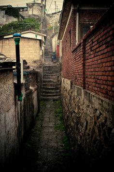 상도동 밤골마을 - 비오는 골목길