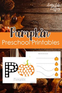 Get into the fall spirit with these Pumpkin Preschool Printables, my daughter…