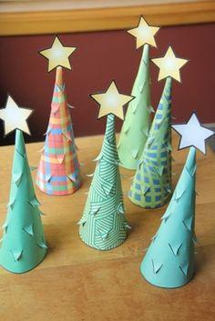 Illuminated Paper Trees 10