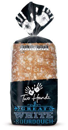 embalagem de pão em preto