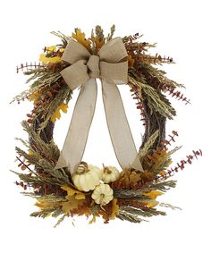 Look at this Harvest Moon Collection Wreath on #zulily today!