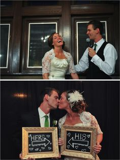 Love the His and Hers signs!