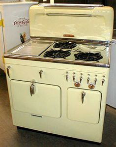 "1952 ""Buttercup Yellow "" Chambers gas stove -   (AntiqueAppliances.com)         Recognize this stove?  A similar one makes a regular appearance on a popular TV show.  This Chambers, however, found a happy home in Wilkesboro, North Carolina."