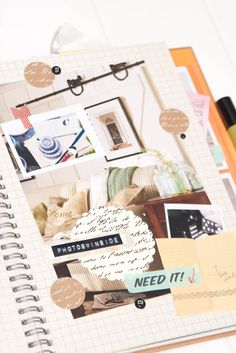 Great Home Decorating Idea Smash Book page...does that make sense?  LOL