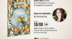 """A Editora Nemo convida para o lançamento do álbum """"Como eu realmente…"""" na Bienal do Livro de São Paulo"""
