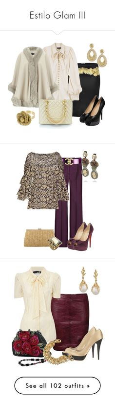 """Estilo Glam III"" by outfits-de-moda2 ❤ liked on Polyvore featuring Roberto Cavalli, Mulberry, Harrods, Charlotte Olympia, Chanel, Wet Seal, Burberry, 3.1 Phillip Lim, Christian Louboutin and Jacques Vert"