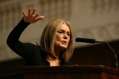 "Steinem's speech touched on a number of subjects, including her career and how India influenced much of her activism. But the main point of her talk focused on how feminism is ""profoundly necessary.""  2014"