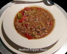 Stuffed Pepper Soup...each delicious spoonful of this easy-to-make soup is full of great flavor! #Recipe  #soup