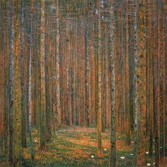 Tannenwald I (Pine Forest I) - Gustav Klimt Painting Reproduction - high quality hand-painted oil on canvas